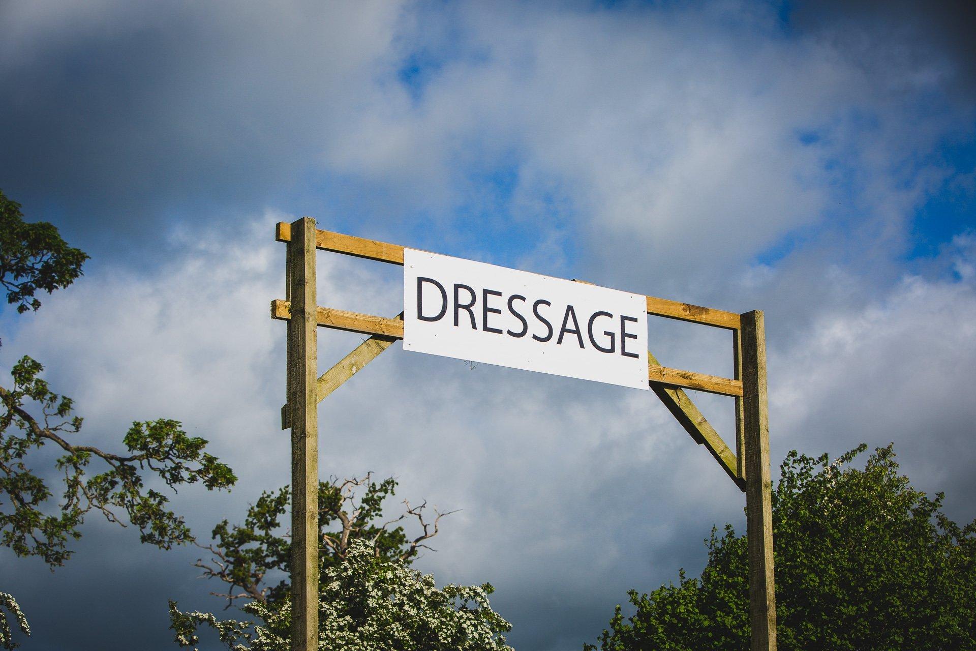 dressage at Llanymynech horse trials