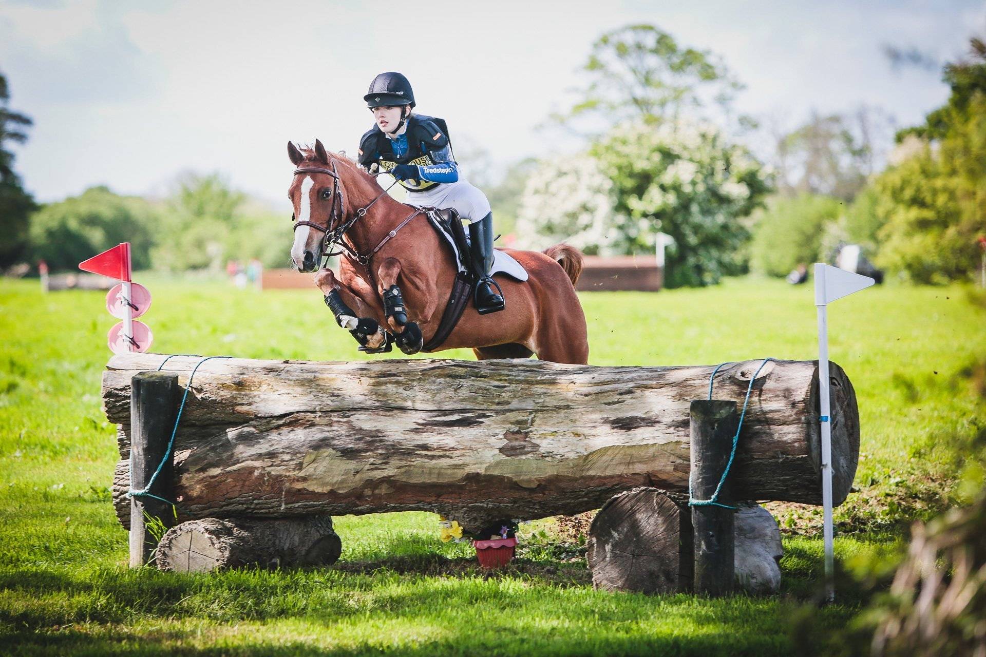 Isabella Shaw and Only Sometimes out on the cross country phase at Llanymynech horse trials