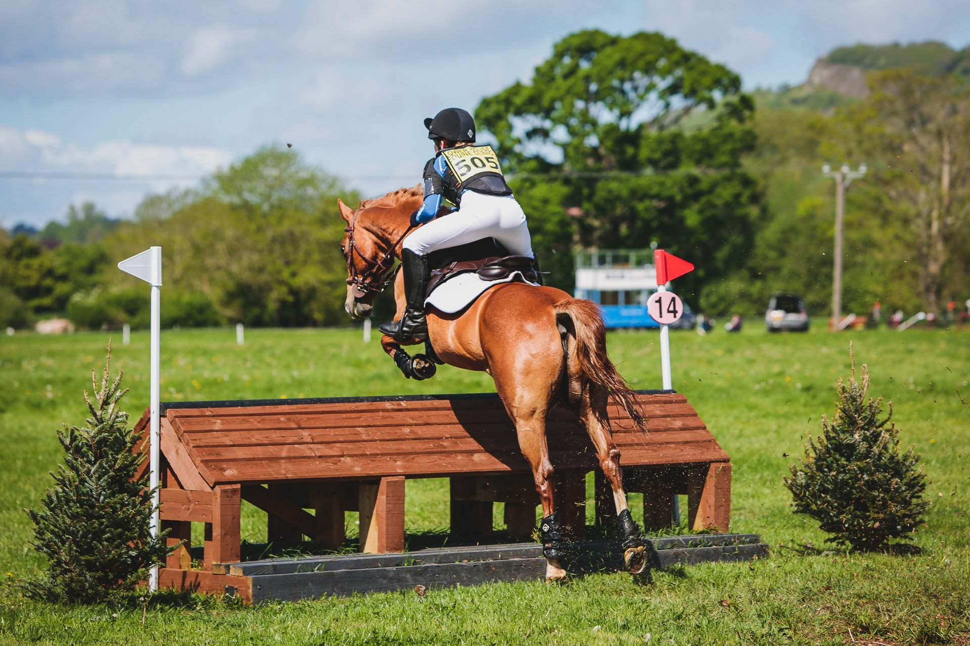 over fence number 14 at Llanymynech ht