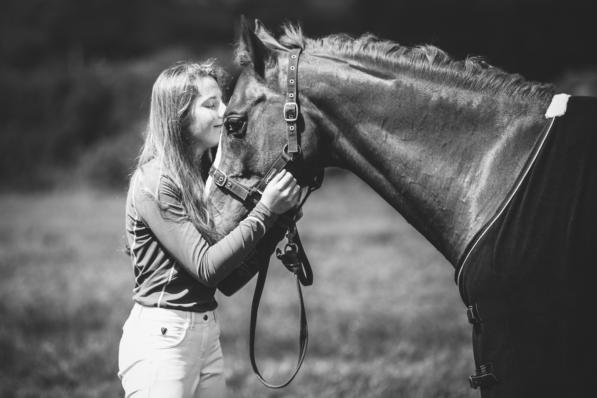 an eventer and her pony