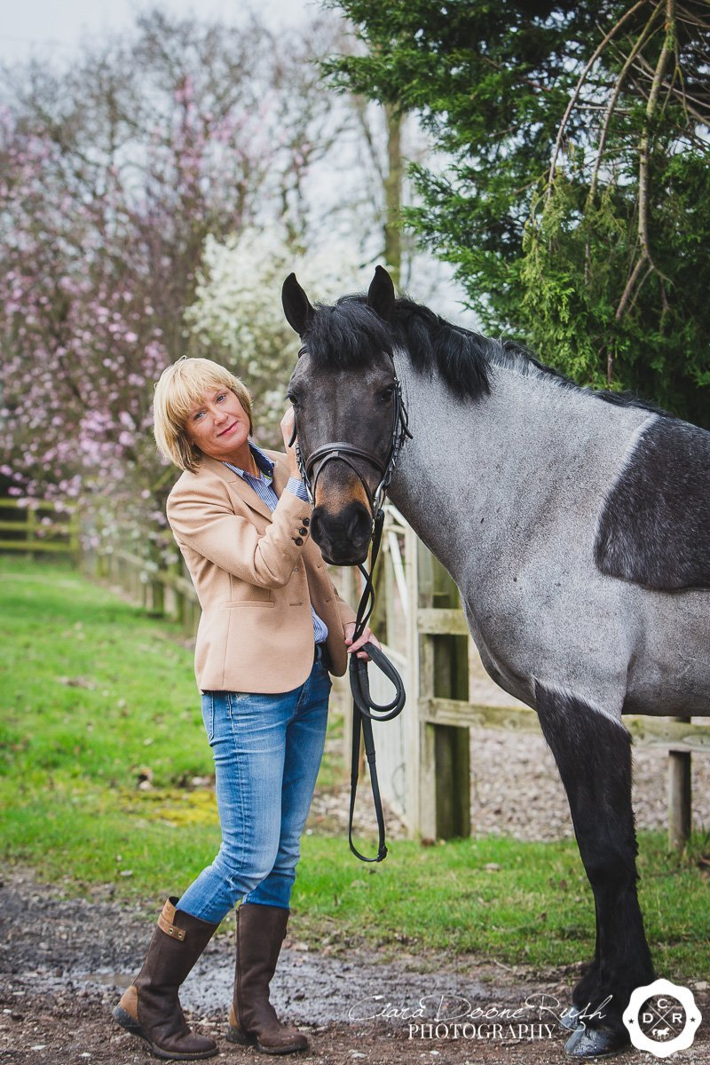 horse and rider spring photo shoot