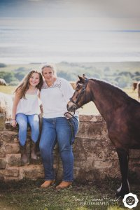 a mother and daughter and horse photo shoot on the wirral