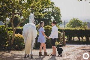 a couple and animal photo shoot