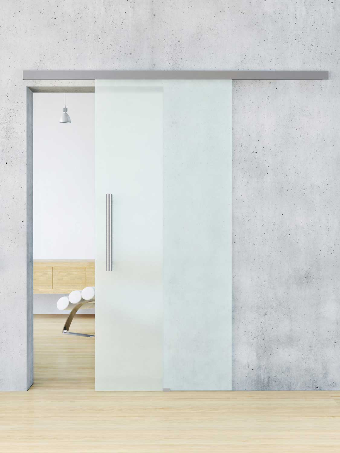 Frosted Glass Interior Doors For Bathrooms Are A Common
