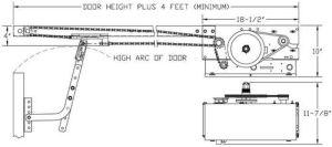Micanan Trolley Pro LT mercial garage door opener light duty