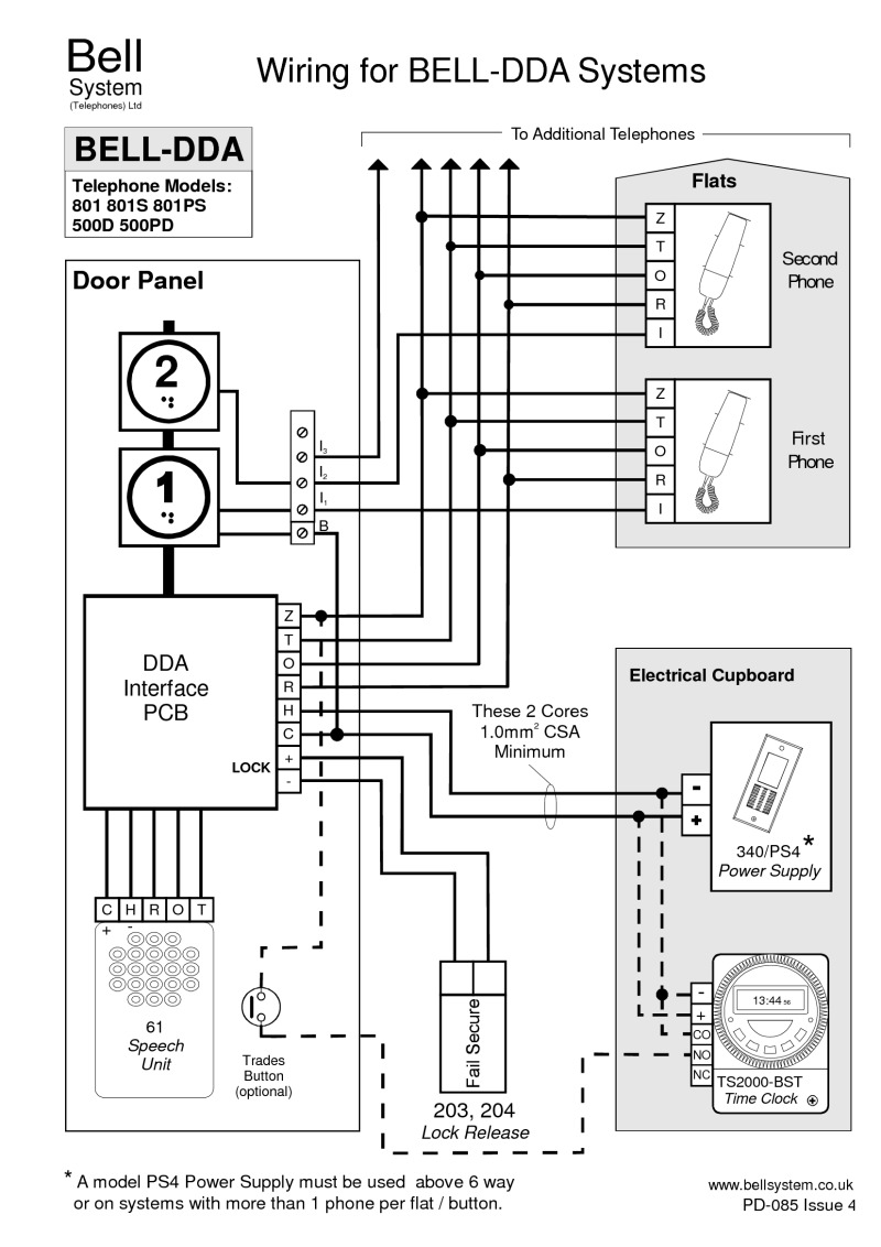 DDA Cabling DDA n Systems (PD 085 Iss 4)?resize=665%2C941&ssl=1 telephone extension bell wiring diagram wiring diagram bt bell 80d wiring diagram at gsmx.co