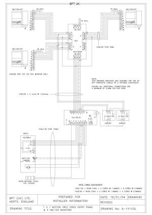 bpt wiring diagrams  system 100