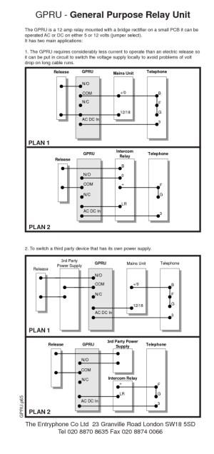 entryphone wiring diagrams