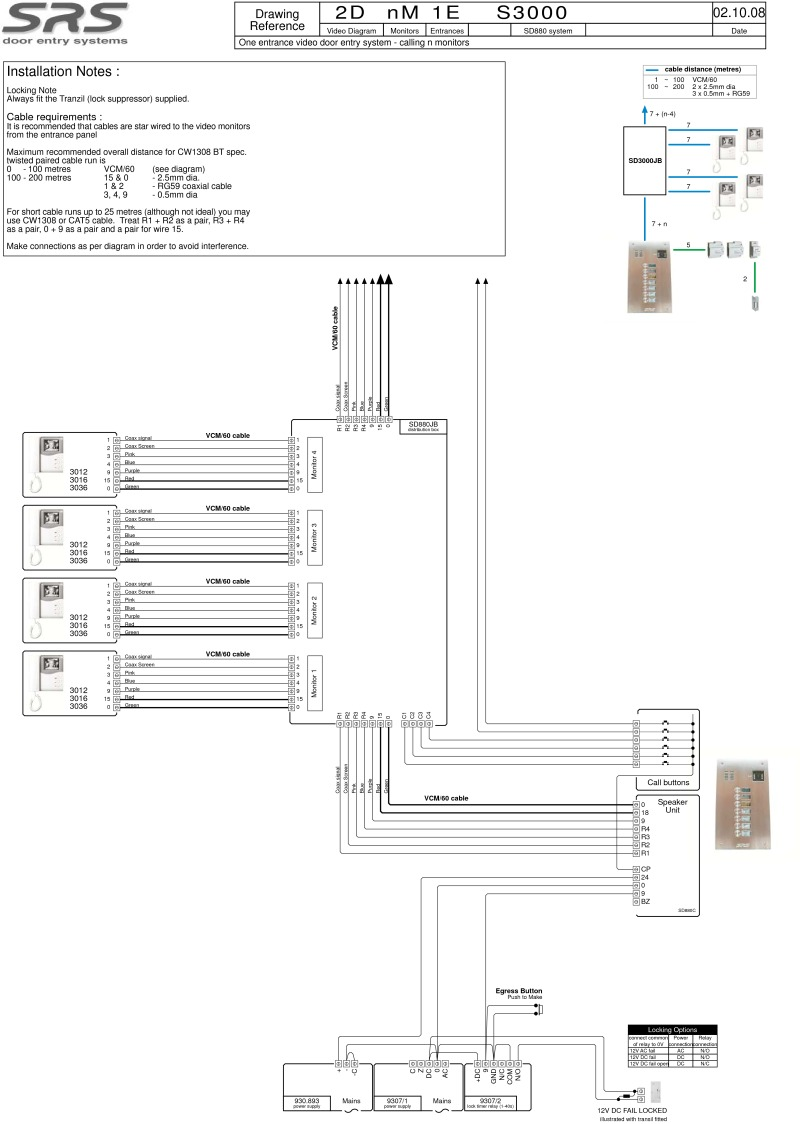 Intercom System Wiring Diagram 30 Images Systems Aiphone 28 2dnm1e S3000resize6652c934ssl1