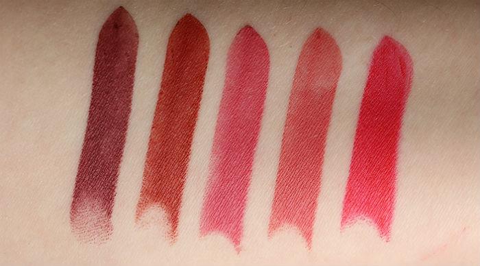 makeup revolution matte lipsticks lip advent calendar swatches