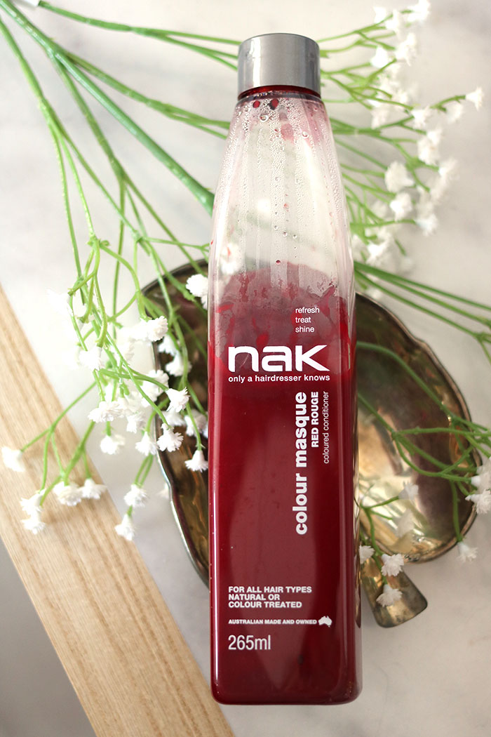 NAK colour masque Red Rouge coloured conditioner pinterest