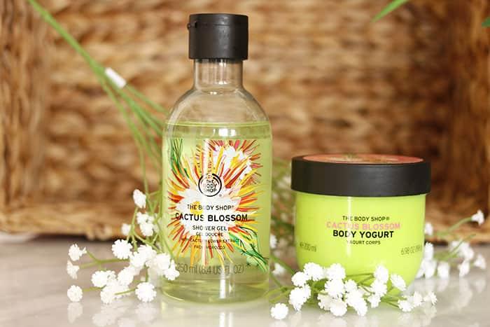 the body shop cactus blossom shower gel body yoghurt