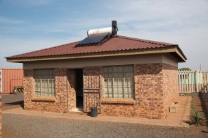 Solar water heater on caretakers home