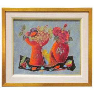 French Modernist Still Life Painting by Agostini