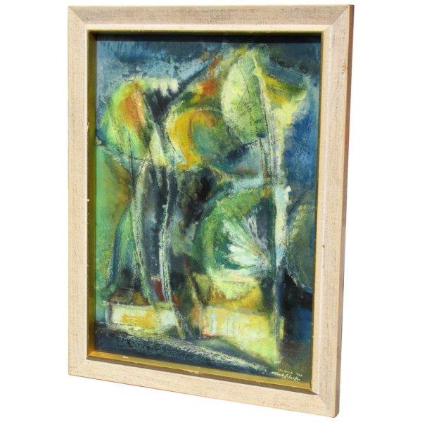 Brazilian Abstract Expressionist Gouache - Frank Schaeffer 1960