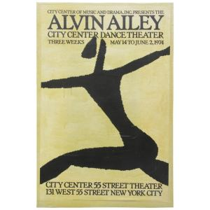 Alvin Ailey Dance Theater Poster by Michael Hampton 1974