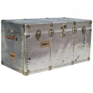 Large Industriial Riveted Aluminum Trunk