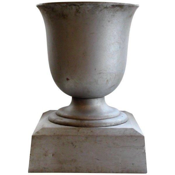 1930's Aluminum Garden Urn