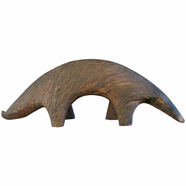 Life-Size Ceramic Sculpture of an Anteater