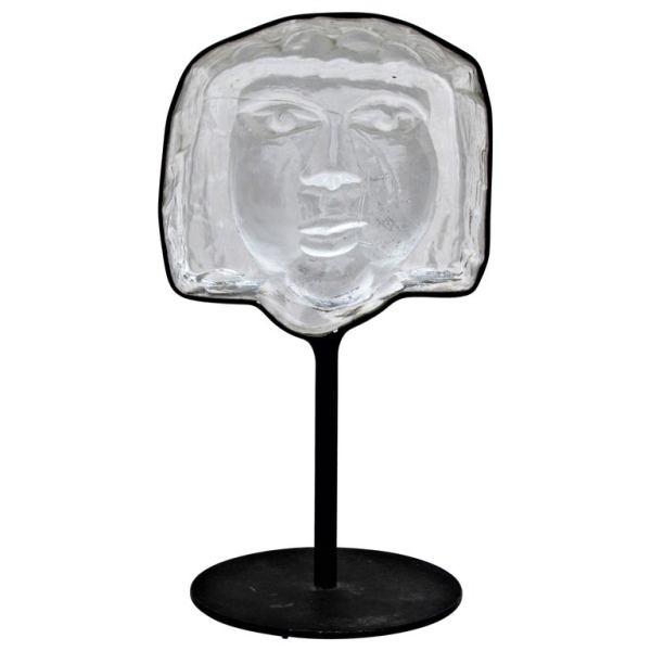 Kosta Boda Face Sculpture by Erik Hoglund