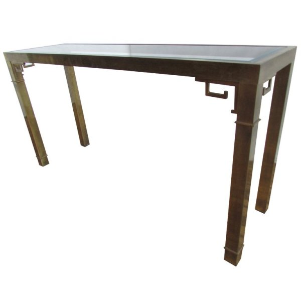 Brass Console Table by Mastercraft