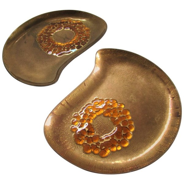 Gilded Enamel Bowls by Sascha Brastoff