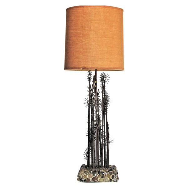 Brutalist Iron Sculpture Lamp