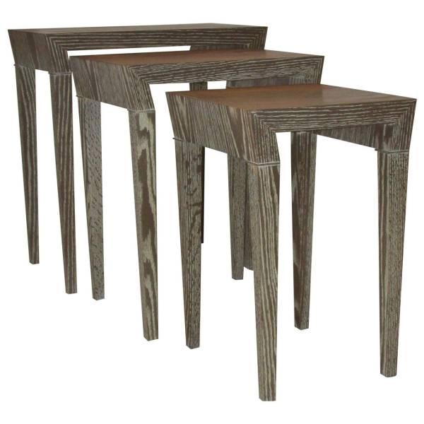 Art Moderne Cerused Nesting Tables 1940's