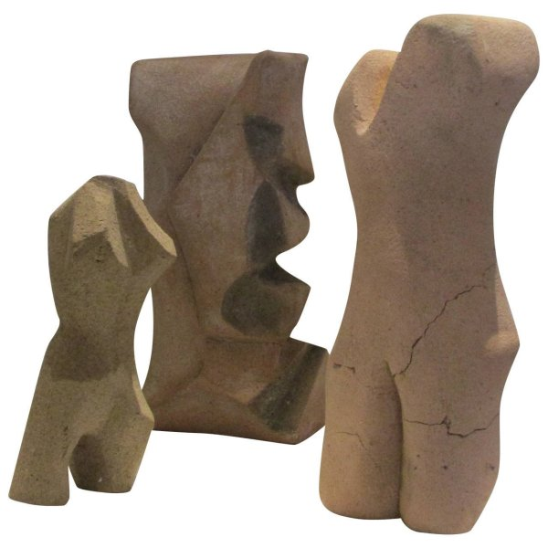 Cubist Ceramic Figures