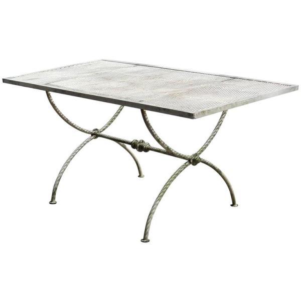 Curule Base Iron Table