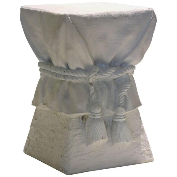 John Dickinson  Surrealistic White Plaster Draped Tassel  Table