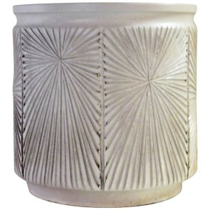 White Glaze Earthgender Planter - Robert Maxwell & David Cressey