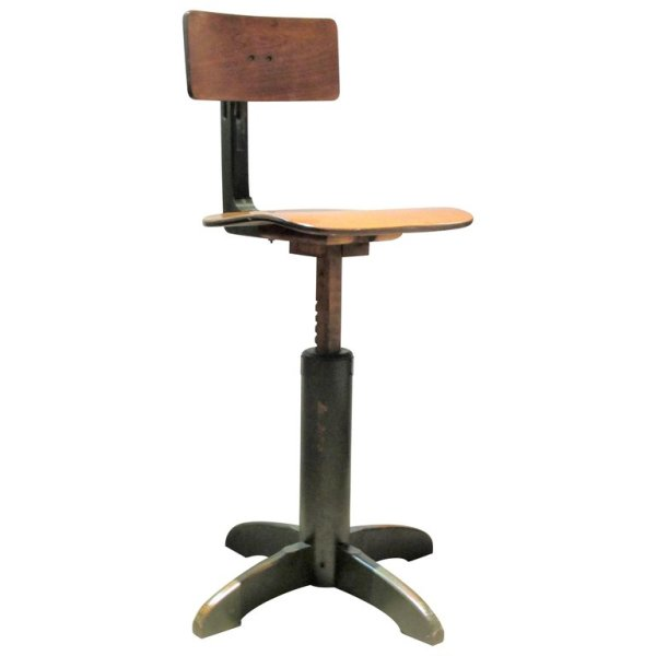 American Industrial Modernist Adjustable Stool