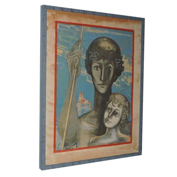 """Francois Gilot """" Creativity """" Mourlot Paris - 1970"""