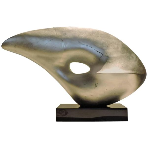 Abstract Fiberglass Sculpture in the style of Barbara Hepworth