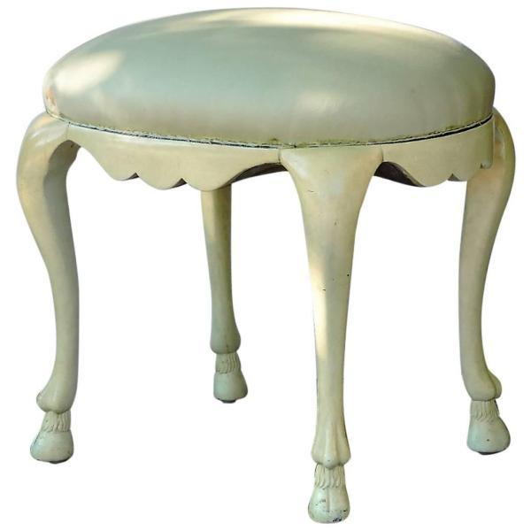 John Dickinson style Neoclassical Rams Hoof Stool