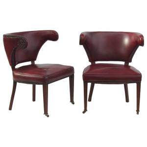 1940's English Regency style Library Chairs