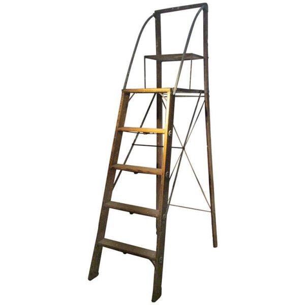 Iron & Wood Early Industrial Ladder