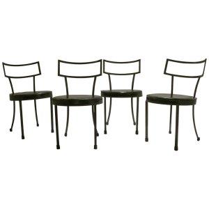 Iron Klismos Chairs