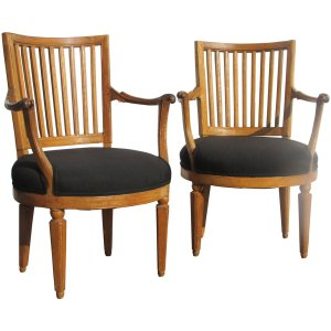 18th Century Italian Neoclassical Fruitwood Armchairs