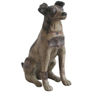 Life Size Antique Terracotta Jack Russell Terrier