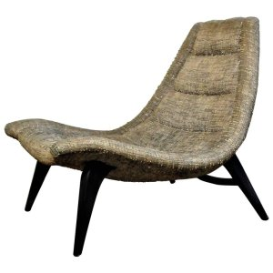 Rare Sculptural Contoured Scoop Chair
