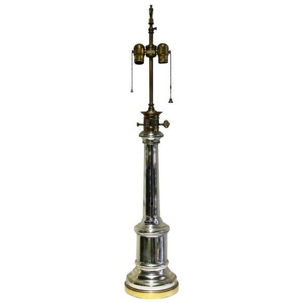 Hollywood Regency Mercury Glass Lamp by Warren Kessler