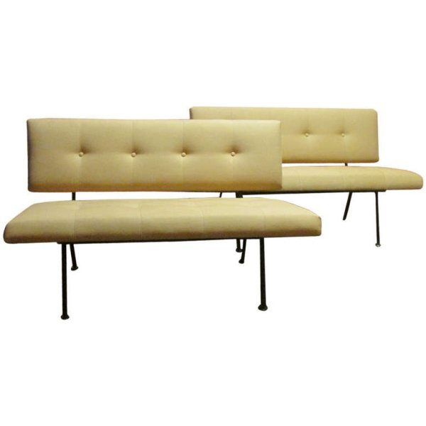 Early Florence Knoll Two Seat Sofas