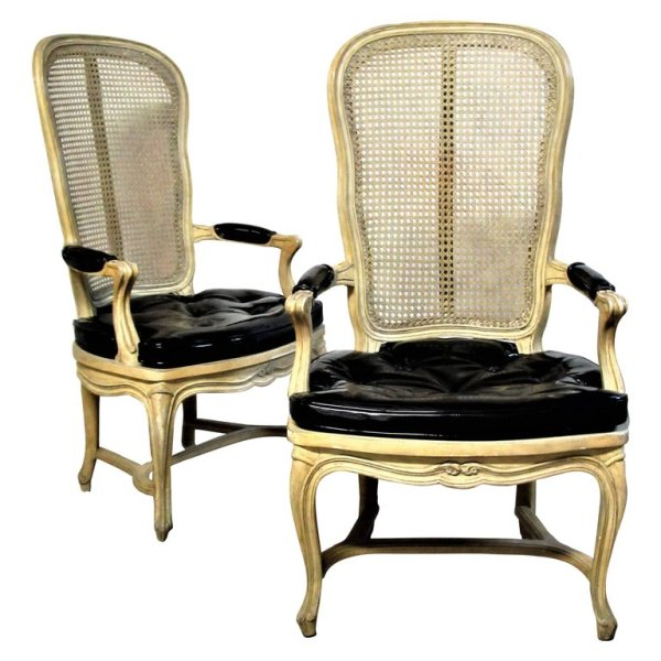 Louis XV Style Chairs Hollywood Regency