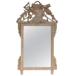 Louis XV style Bleached Pine Mirror