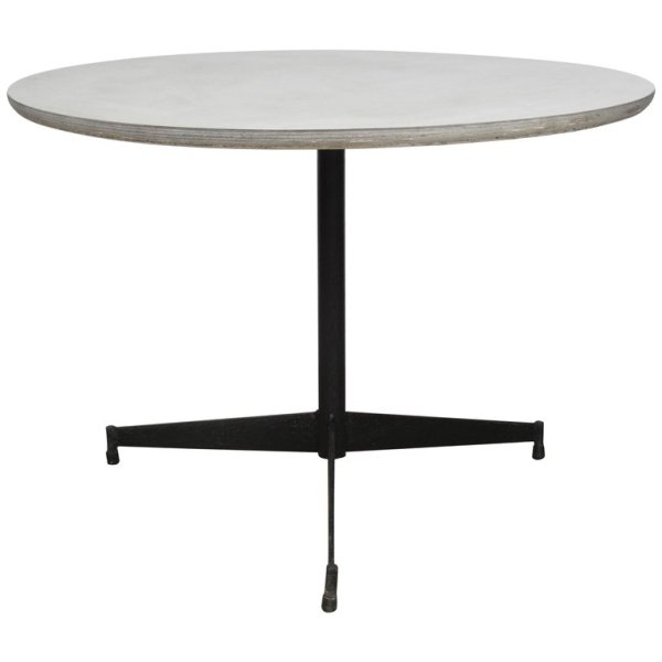 Paul McCobb style Iron Tripod Base Table