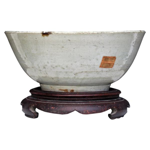 Antique Ming Dynasty Large Bowl on Stand