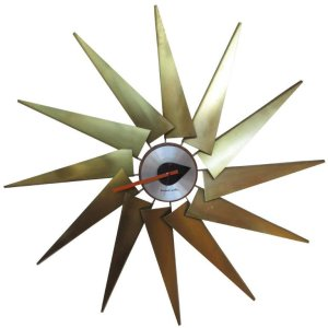 Rare Turbine Clock by George Nelson