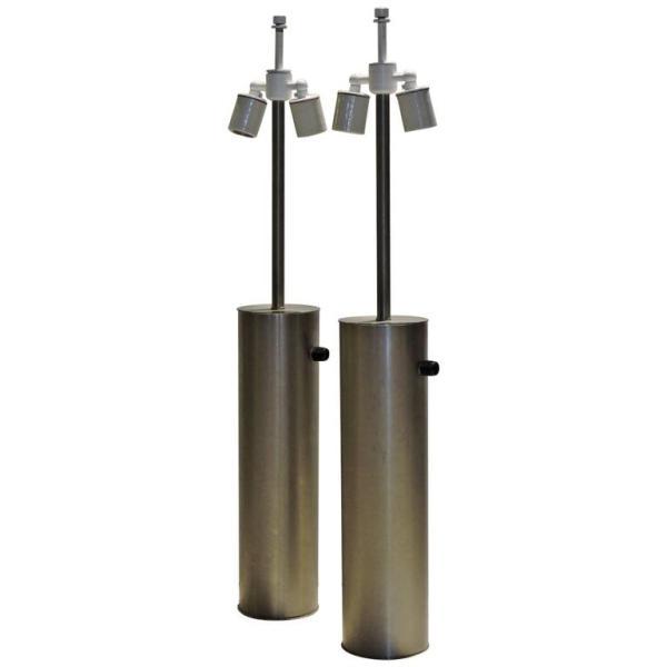 Walter Von Nessen Aluminum Cylinder Lamps